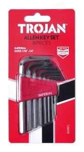 8 PIECE ALLEN KEY IMPERIAL SET
