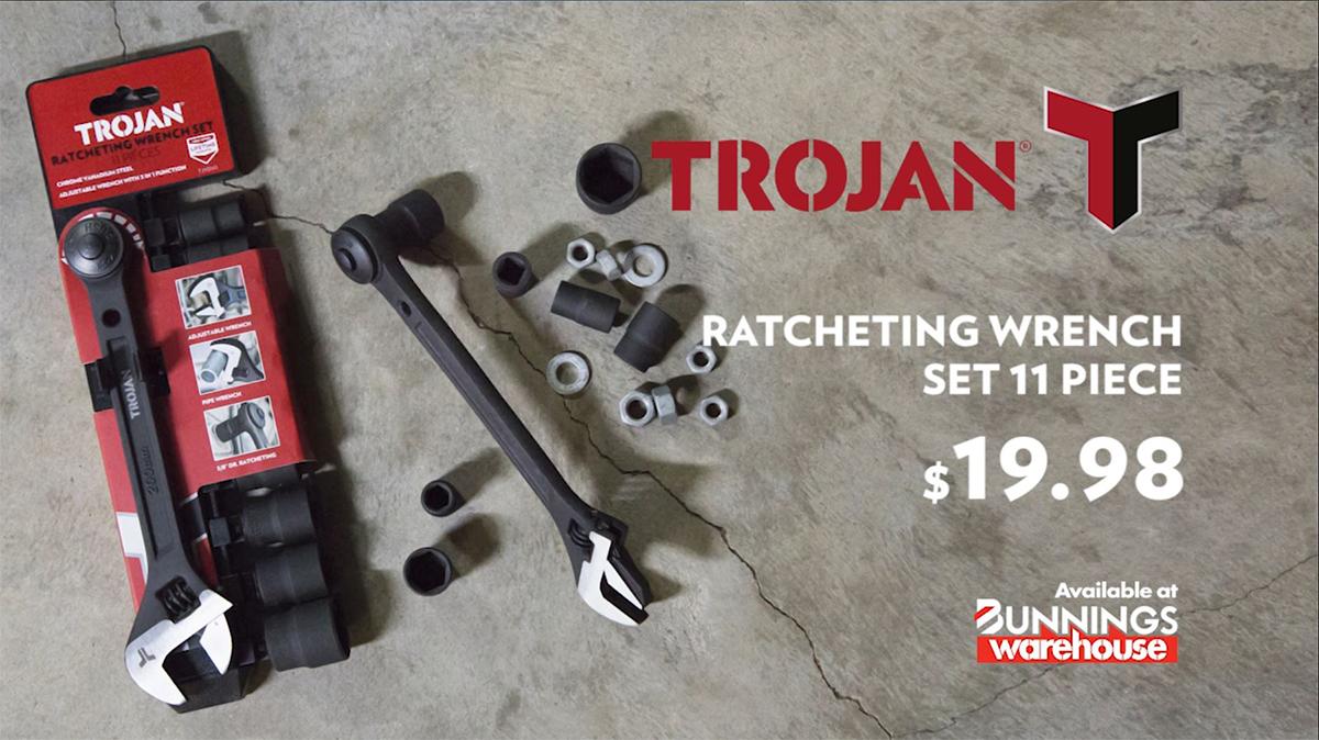 11 PIECE RATCHETING WRENCH SET